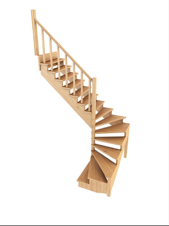 Лестница из сосны К-003м (вариант №5) Левая