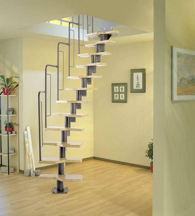 Модульная лестница Graz, 2405-2925 мм, 12 ступеней