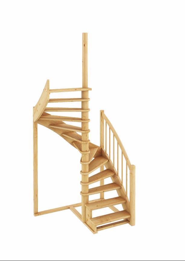 Лестница из сосны К-005м (вариант №1) Левая