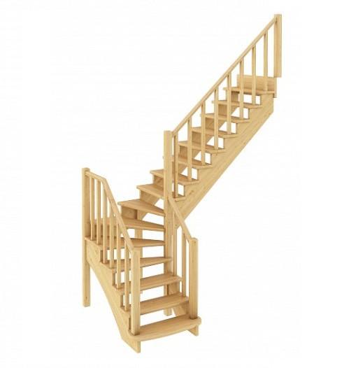 Лестница из сосны К-021м Правая