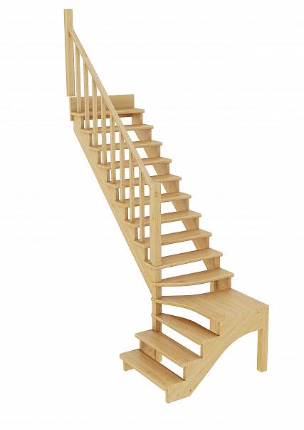 Лестница из сосны К-031м (вариант №1) Левая