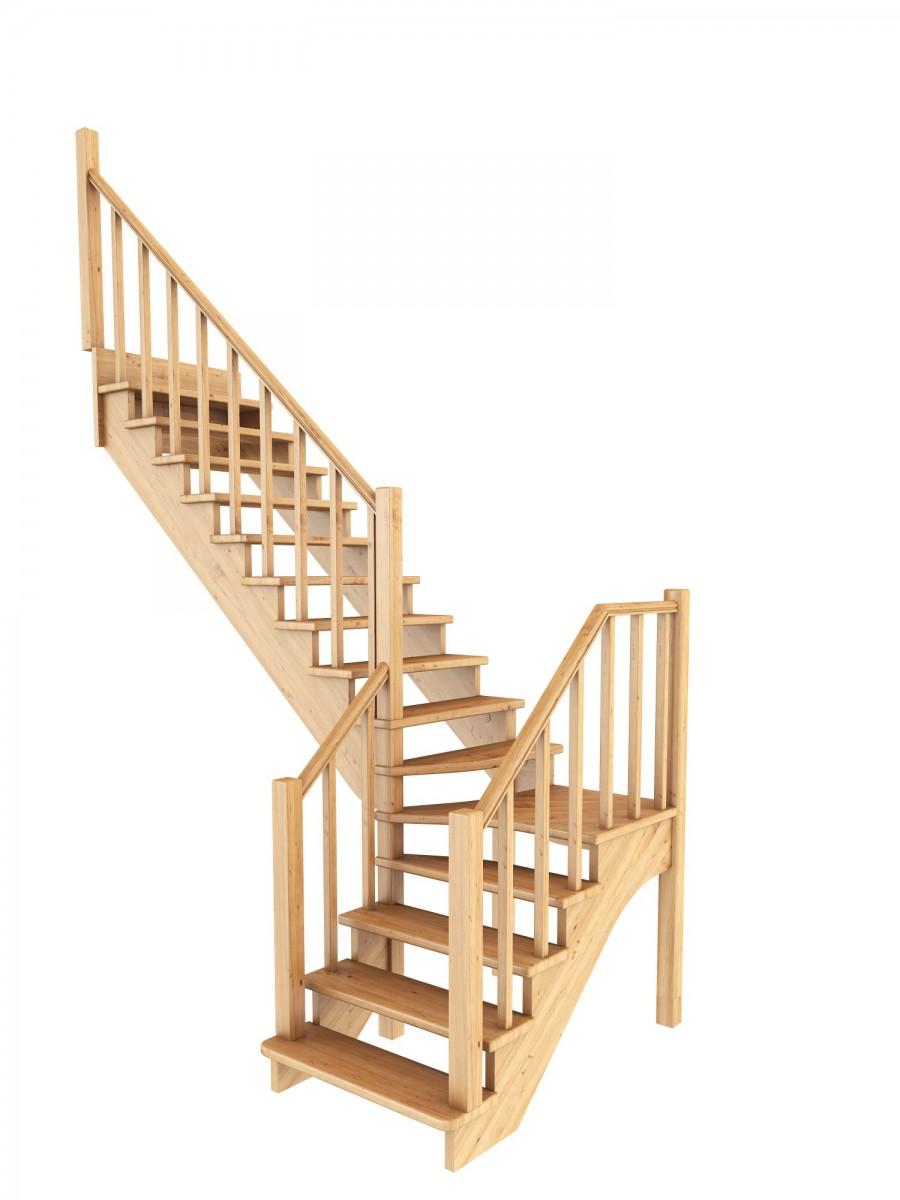 Лестница из сосны К-032м Левая