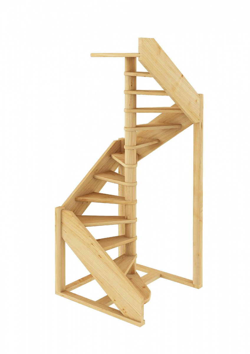 Лестница из сосны ЛC-1.2хм Правая
