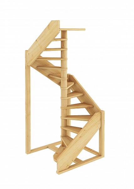Лестница из сосны ЛC-1.2хм Левая