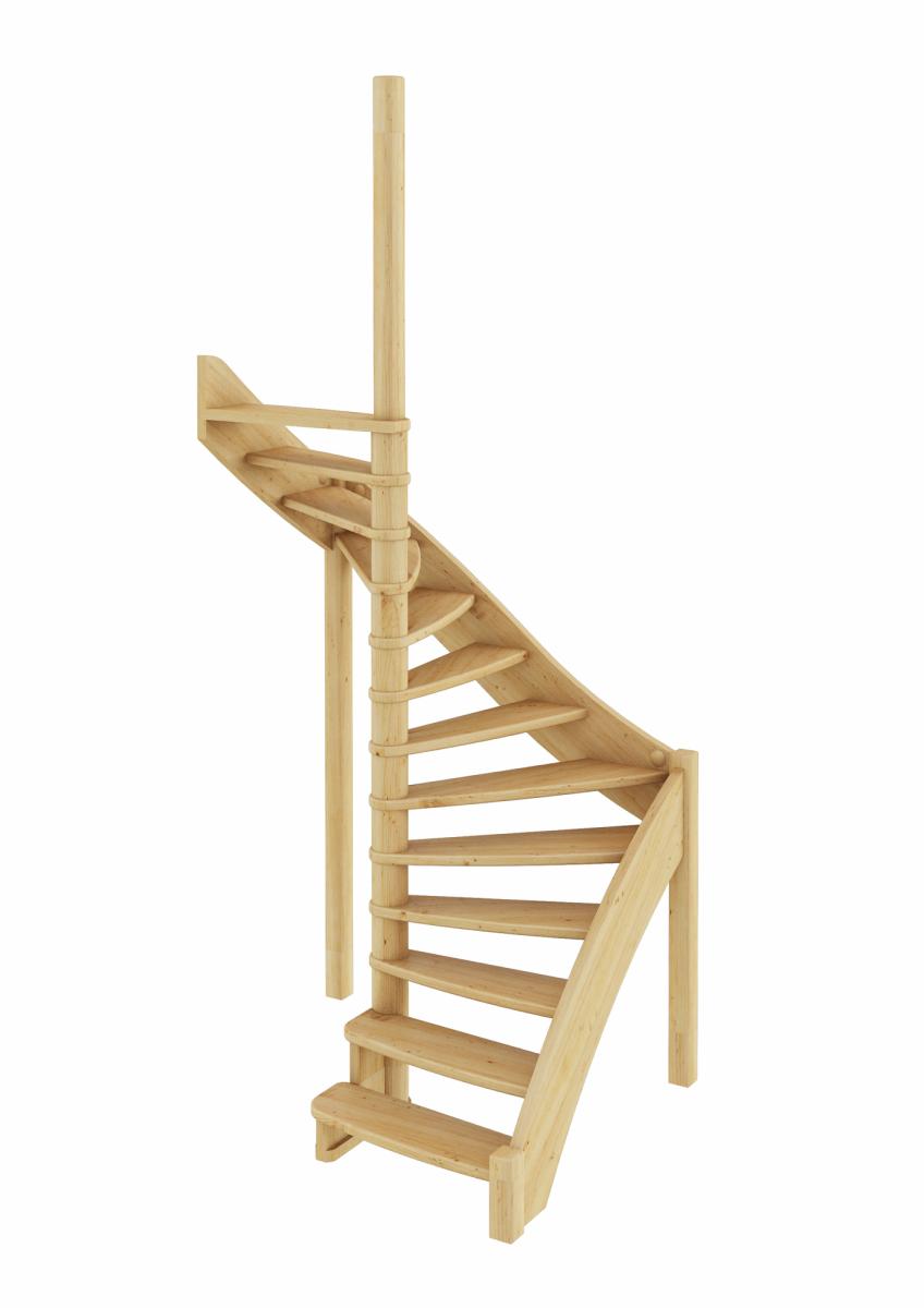 Лестница из сосны ЛС-01м Левая