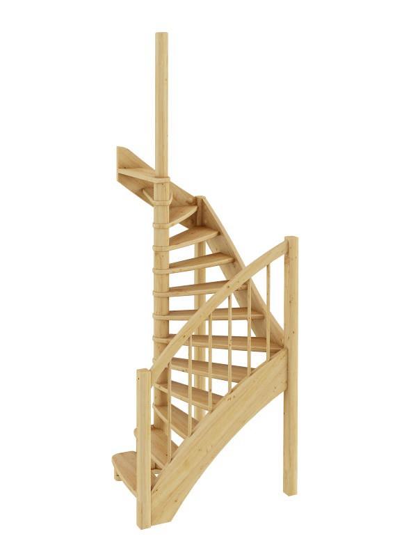 Лестница из сосны ЛС-04м Левая