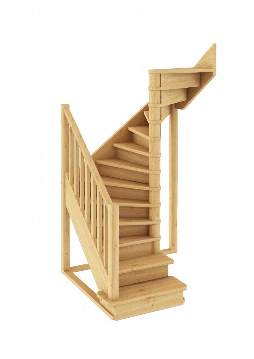 Лестница из сосны ЛС-05м Правая