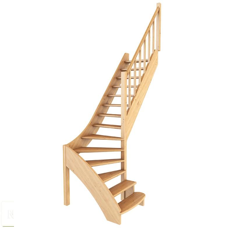 Лестница из сосны ЛС-07м (вариант №5) Правая