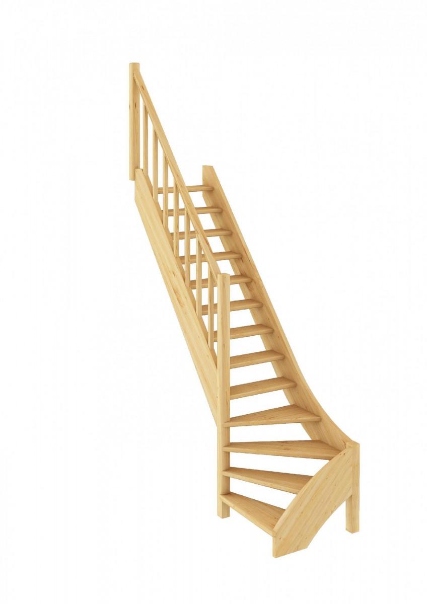 Лестница из сосны ЛС-07м (вариант №1) Левая