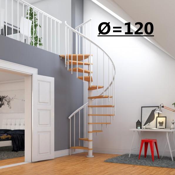 Винтовая лестница Montreal Classic  диаметр 120 см, белый