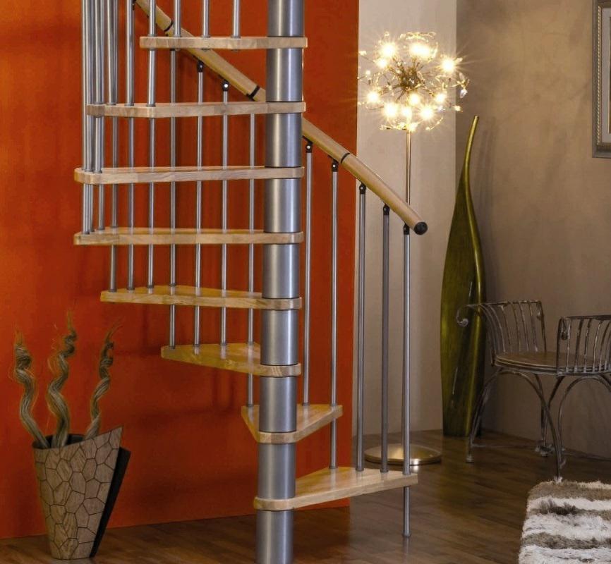 Винтовая лестница Spiral Decor диаметр 120 см, серебро