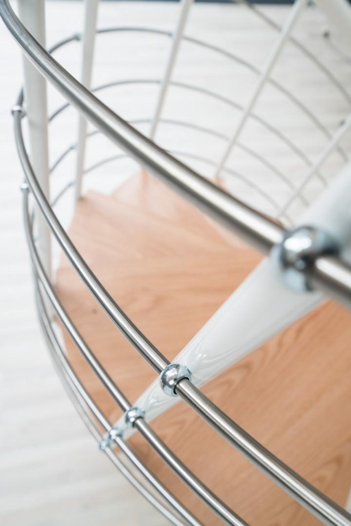 Винтовая лестница Montreal Style, диаметр 140 см, белый