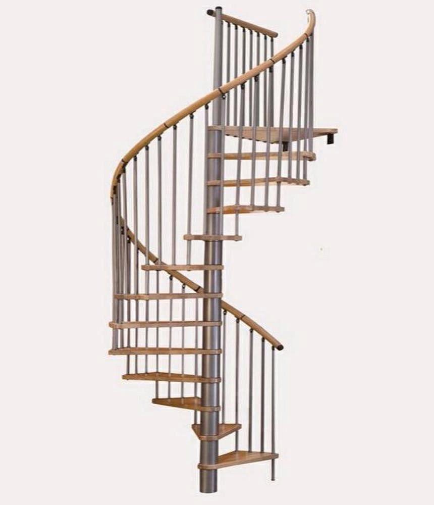 Винтовая лестница Spiral Decor диаметр 160 см, серебро