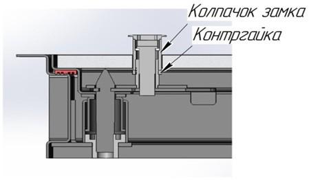 Напольный люк с амортизаторами 800 (петли)*700 БОНД (Ключ/ручка)